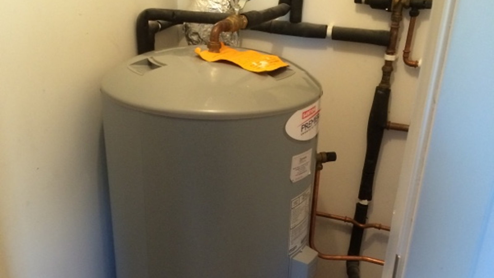 Reinstalled hot water cylinder by All Trade Property